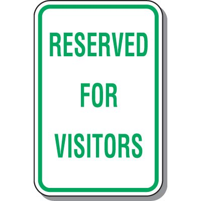 Visitor Parking Signs - Reserved For Visitors