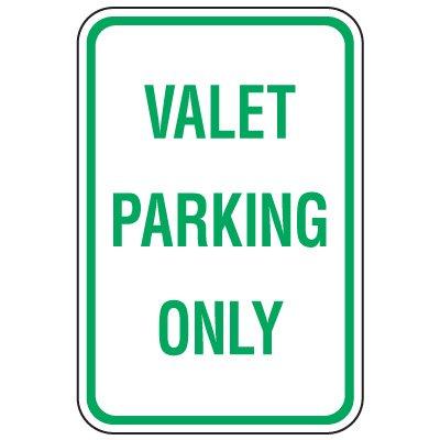Visitor Parking Signs - Valet Parking Only