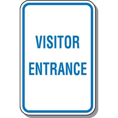 Visitor Parking Signs - Visitor Entrance