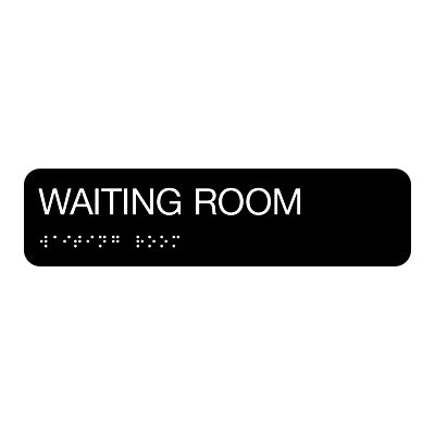 Waiting Room - Standard Worded Braille Signs
