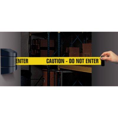 Wall Mount Security Tensabarriers- Caution Do Not Enter 897-33-YA-C