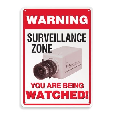 Warning Surveillance Zone Signs