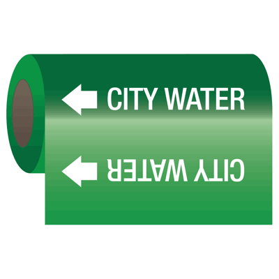 Wrap Around Adhesive Roll Markers - City Water