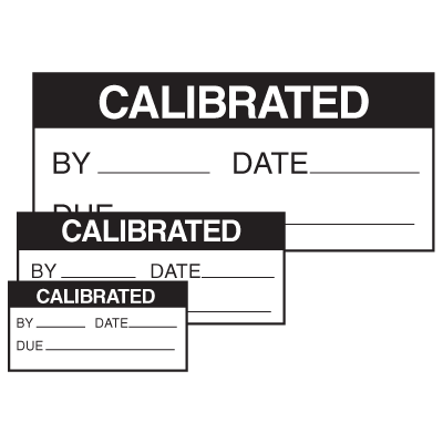 Self Laminating Labels - Calibrated By__Date__Due__