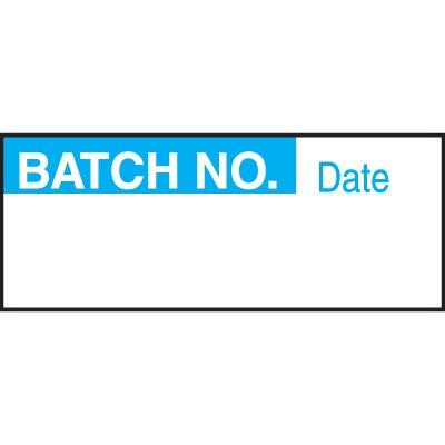 Write-On Labels - BATCH NO.
