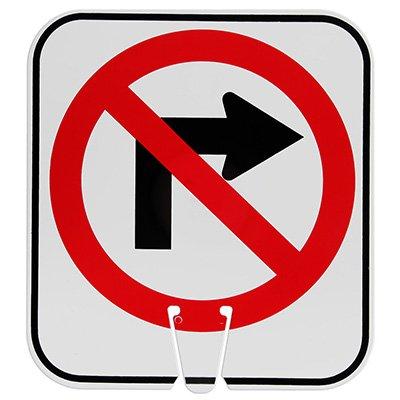 Arrow Sign Traffic Cone Signs - No Right Turn Symbol V-SNRT