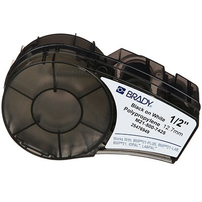 Brady M21-500-7425 BMP21 PLUS Label Cartridge - Black on White