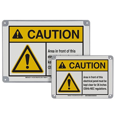 ToughWash® Encapsulated Signs - Caution Electrical Panel Kept Clear