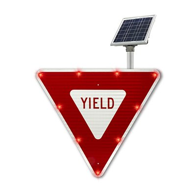 BlinkerSign® Flashing LED School Crossing Sign
