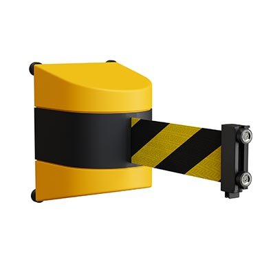 Yellow ABS Wall Mount Magnetic Retractable Belt Barriers
