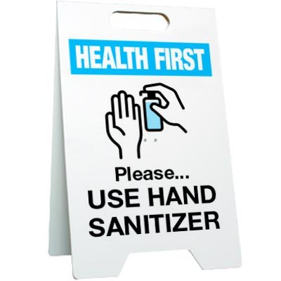 Please Use Hand Sanitizer Floor Stand