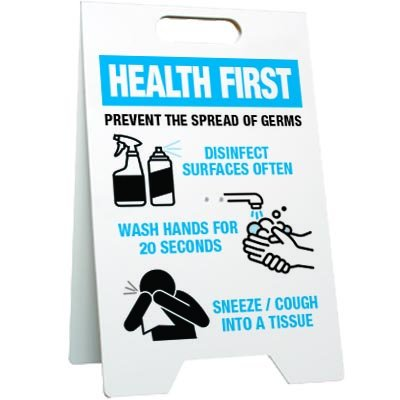 Prevent the Spread of Germs Floor Stand