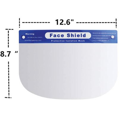 Adjustable Anti-Fog Full Face Shield – Case of 200