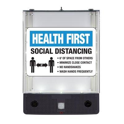Seton Safety Sign Alerter Kit - Health First Social Distancing Sign