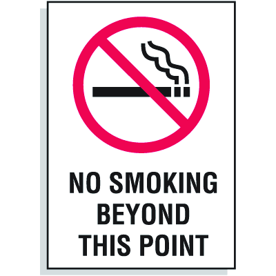 No Smoking Beyond This Point Sign