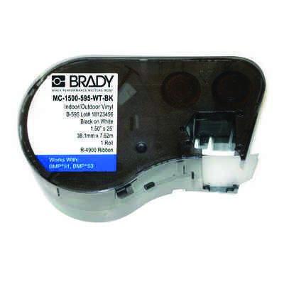 Brady MC-1500-595-WT-BK BMP51/53 Label Cartridge - Black on White