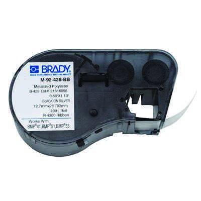 Brady M-92-428-BB BMP51/BMP41 Label Cartridge - Black on Light Gray