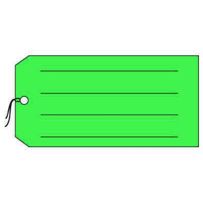 Production Control Tags - Blank with lines, Green
