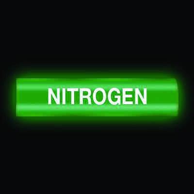 Reflective Opti-Code™ Self-Adhesive Pipe Markers - Nitrogen