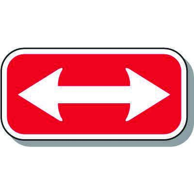 Reserved Parking Signs - 2-Way Arrow
