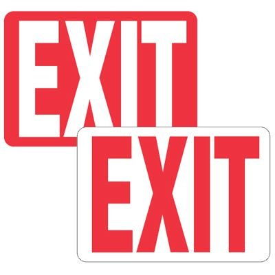 2-Part Universal Arrow & Sign Kit - Exit