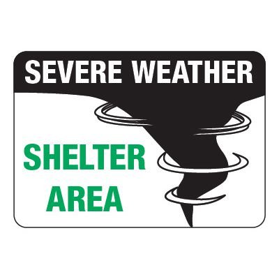 2-Part Universal Arrow & Sign Kit - Severe Weather Shelter Area