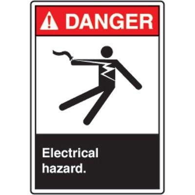 ANSI Safety Signs - Danger Electrical Hazard