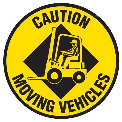 Anti-Slip Floor Markers - Caution Moving Vehicles