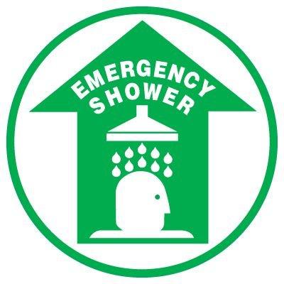 Anti-Slip Floor Markers - Emergency Shower