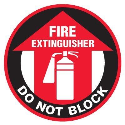 Anti-Slip Floor Markers - Fire Extinguisher Do Not Block