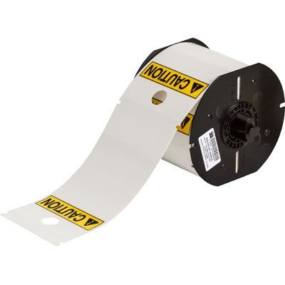 Brady B30-255-551-ANSICA B30 Series Label - Black/Yellow on White