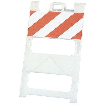 """Plasticade® 45""""h x 25""""w Striped Barricade 100-W-T12EG"""