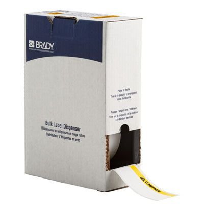 Brady BM71C-2000-854-CAU BMP71 Label - Black/Yellow on White