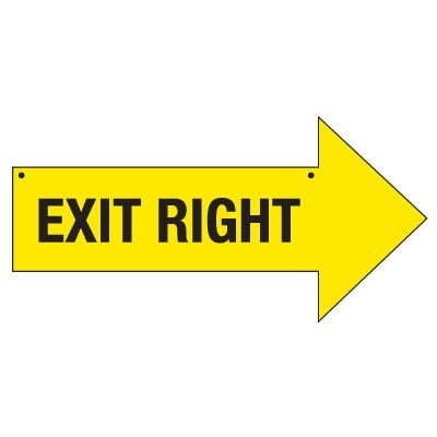 Bulk Arrow Signs - Exit Right