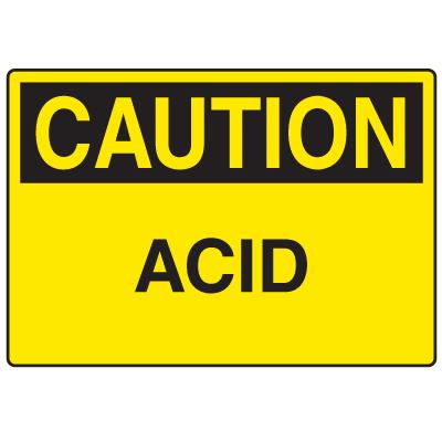 Caution Signs - Acid