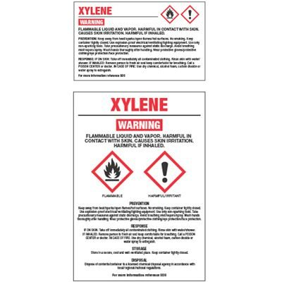 Chemical GHS Labels - Xylene