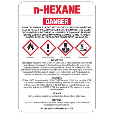 N-Hexane GHS Sign