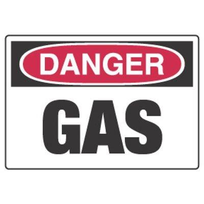 Chemical Hazard Danger Sign - Gas