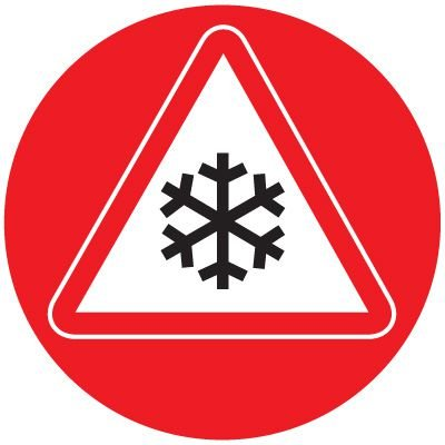 Anti-Slip Floor Markers - Snowflake Graphic
