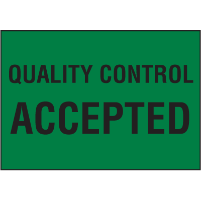 Quality Control Accepted Colour-Coded QC Labels