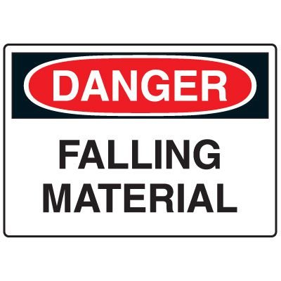 Construction Safety Signs - Falling Material