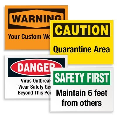 Custom Hazard Warning Labels