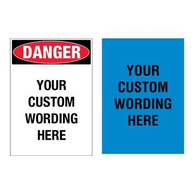 Custom Ultra-Stick Adhesive Signs