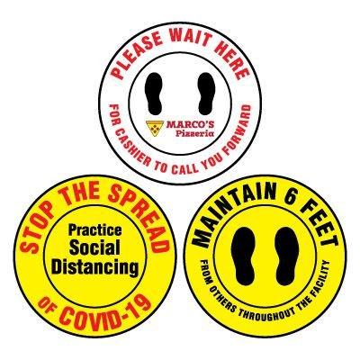 Custom Anti-Slip Floor Markers