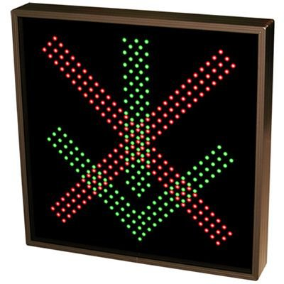 Bold Direct View LED Sign - X Down Arrow