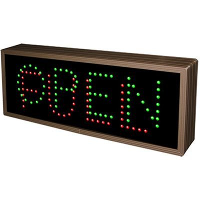 Direct Full View LED Sign - Open