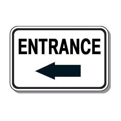 Directional Parking Signs - Entrance (Left Arrow)