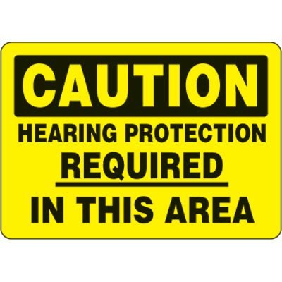 Eco-Friendly Hearing Protection Required Sign