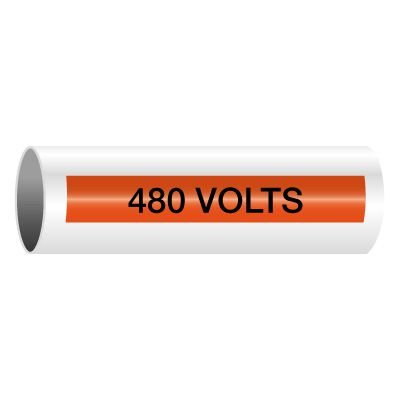 480 Volts - Self-Adhesive Electrical Markers