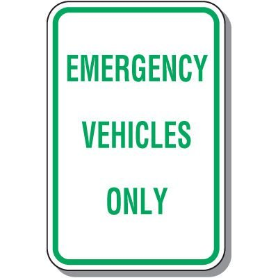 Employee Parking Signs - Emergency Vehicles Only
